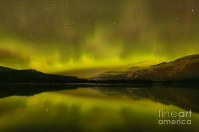 Photograph - Lake Edith Light Show by Adam Jewell