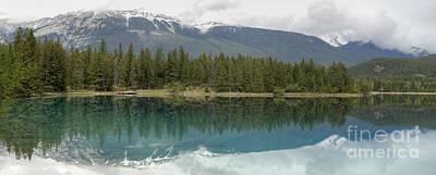 Photograph - Lake Edith Reflections by David Birchall