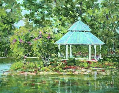 Painting - Lake Ella Gazebo by Gail Kent