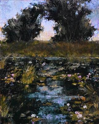 Minnesota Landscape Wall Art - Painting - Lake Elmo Lilies by Tracie Thompson