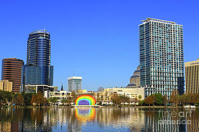 Photograph - Lake Eola Color by Deborah Benoit