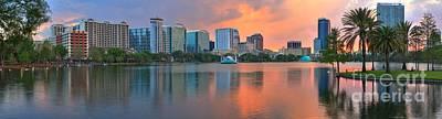Photograph - Lake Eola Orlando Sunset by Adam Jewell