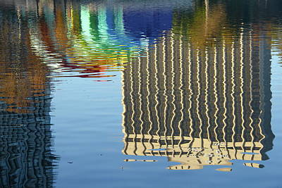 Photograph - Lake Eola Reflections by Denise Mazzocco
