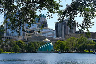 Photograph - Lake Eola View Of Downtown Orlando by Denise Mazzocco
