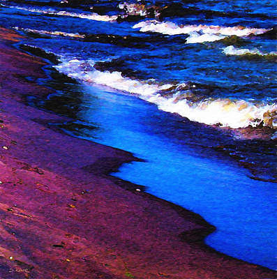 Photograph - Lake Erie Shore Abstract by Shawna Rowe