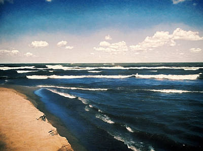Lake Erie Whitecaps  Art Print by Shawna Rowe
