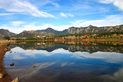 Lake Estes Reflections Art Print