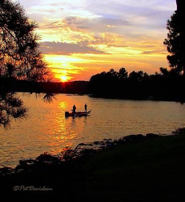 Photograph - Lake Fishing At Sunset by Patricia L Davidson