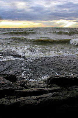 Photograph - Lake Flowing Over Rocks by Angela Murdock