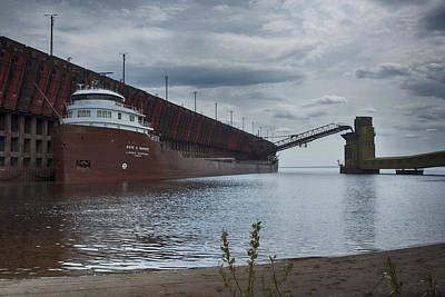 Photograph - Lake Freighter by Dan Hefle