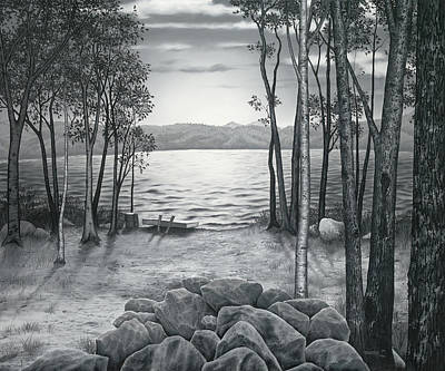 Lake Front Art Print