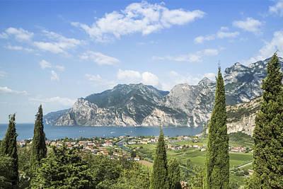 Querformat Photograph - Lake Garda Gorgeous Italy by Melanie Viola