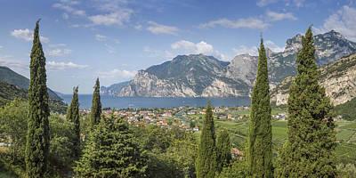 Lake Garda Wonderful Panoramic View Art Print by Melanie Viola
