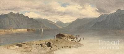 Lake Geneva Painting - Lake Geneva by Celestial Images