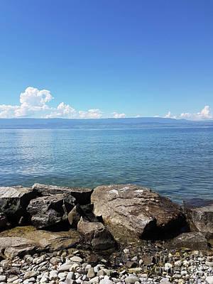 Lake Leman Photograph - Lake Geneva. France by Bernard Jaubert