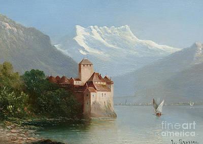 Lake Geneva Painting - Lake Geneva by MotionAge Designs