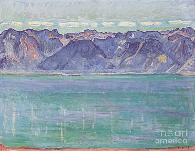 Geneva Painting - Lake Geneva Overlooking The Savoyerberge by Celestial Images