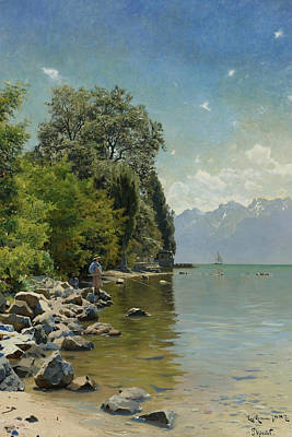 Painting - Lake Geneva by Peder Monsted