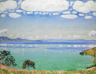 Sea View Painting - Lake Geneva, Seen From Chexbres by Ferdinand Hodler