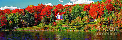 Photograph - Lake Geneva Wisconsin North Shore Fall by Tom Jelen