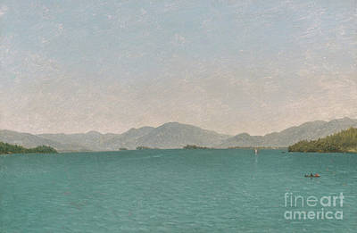 Lake George, Free Study, 1872 Art Print