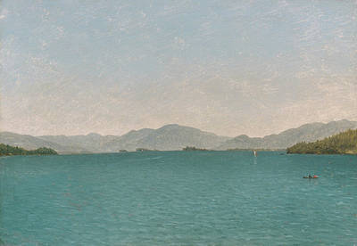Painting - Lake George, Free Study by John Frederick Kensett