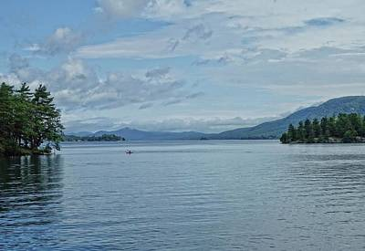 Photograph - Lake George Kayaker by Russ Considine