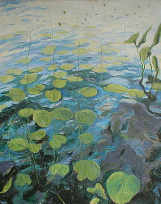 Painting - Lake George Lily Pads by Jackie Hoats Shields