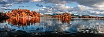 Lake George Panorama  Art Print