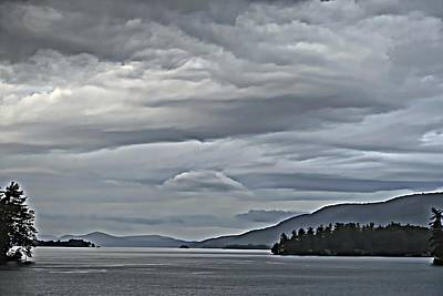 Lake George Rain And Clouds Art Print