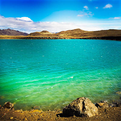 Water Wall Art - Photograph - Lake Graenavatn In Iceland Green And Blue Colors by Matthias Hauser
