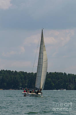 Photograph - Lake Hartwell Sailing by Dale Powell