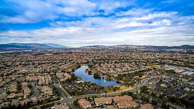 Photograph - Lake Harveston Winter Aerial by Adam Rainoff