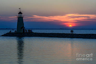 Lake Hefner Evening Stroll Art Print by Tamyra Ayles