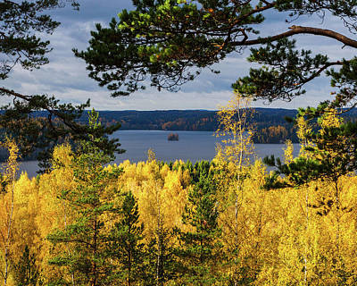 Photograph - Lake Hiidenvesi Autumnscape 3 by Ismo Raisanen