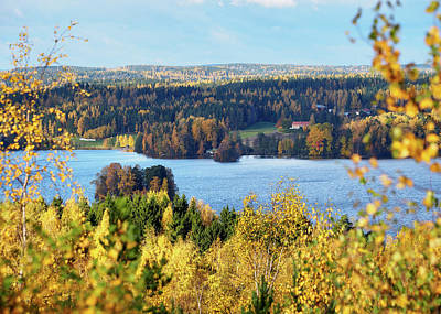 Photograph - Lake Hiidenvesi Autumnscape by Ismo Raisanen