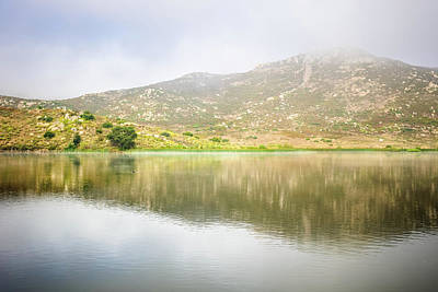 Photograph - Lake Hodges - Morning Mirror by Alexander Kunz