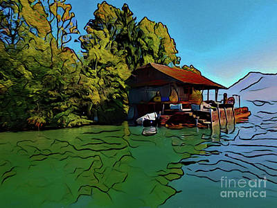 Photograph - Lake Home 17218 by Ray Shrewsberry