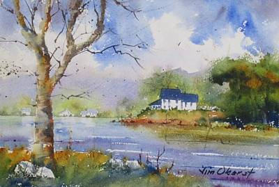 Oberst Painting - Lake Home by Jim Oberst