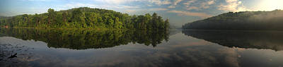 Lake Hope Sunrise Panorama Art Print