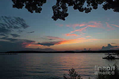 Photograph - Lake House Sunset View by Dale Powell