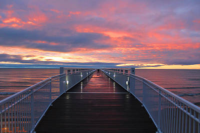 Photograph - Lake Huron Pier by Michael Rucker