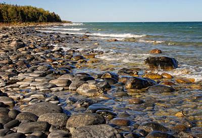 Photograph - Lake Huron Rocky Coast by Peg Runyan
