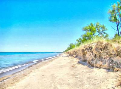 Painting - Lake Huron Shoreline by Maciek Froncisz