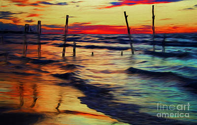 Photograph - Lake Huron Sunset Across Borders by Barbara McMahon