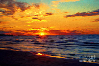 Photograph - Lake Huron Sunset by Barbara McMahon