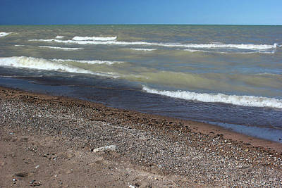 Photograph - Lake Huron Windy Day 3 by Mary Bedy