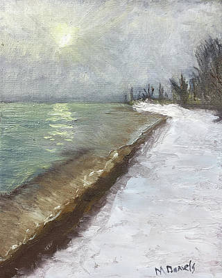 Painting - Lake Huron Winter Beach by Michael Daniels