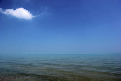 Photograph - Lake Huron With One Cloud by Mary Bedy