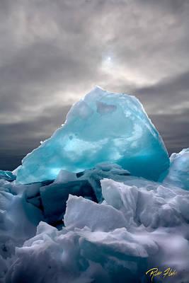 Lake Ice Berg Art Print